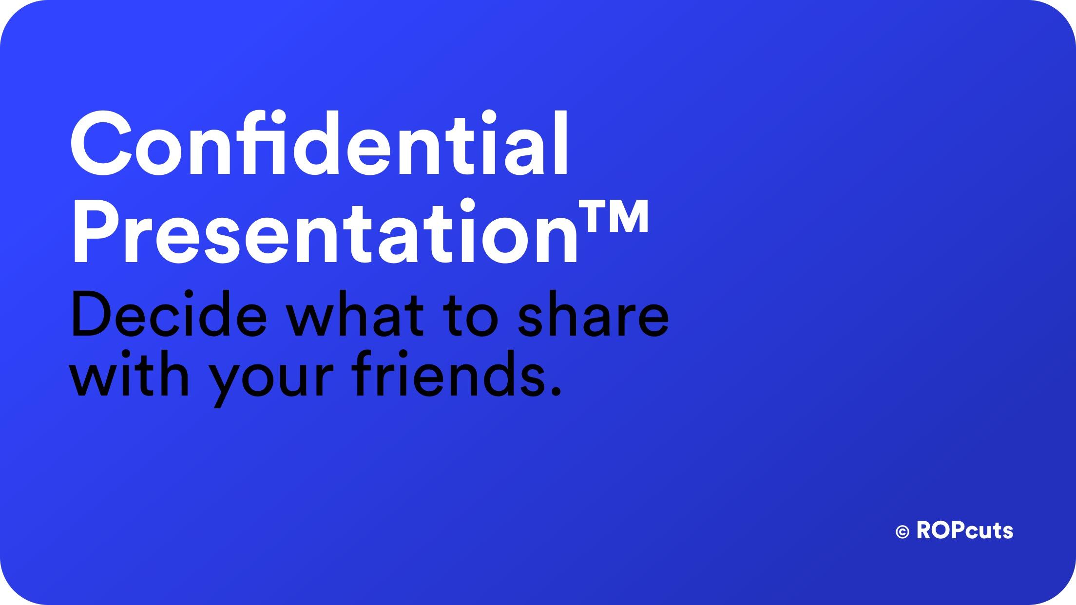 Confidential Presentation